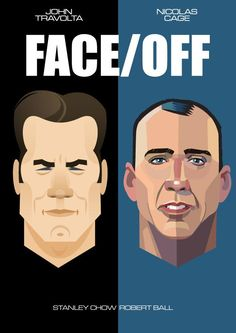 Travolta and Cage Face Off Stanley Chow Graphic Figures