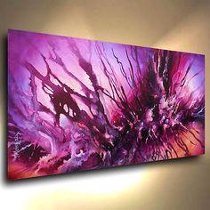 Arte Abstracto Pintura Moderna Decoración contemporánea Michael Lang Certificada Original