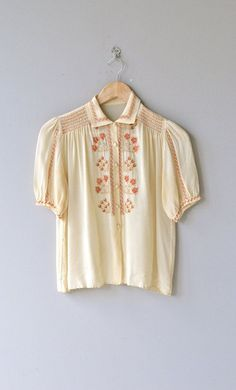 Dulcamara blouse vintage 1930s blouse silk by DearGolden on Etsy