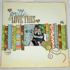 love this Scrapbooking page!  Use it for book titles also