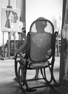 Thonet Rocking chair with Picaso