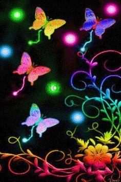 Beautiful Neon Butterflies - Bing Images