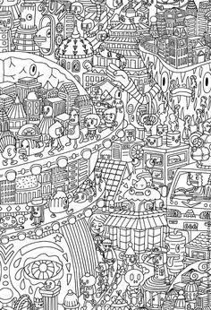 Free coloring page coloring-for-adults-7. Difficult because there ...