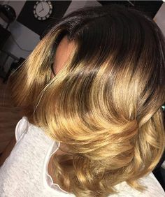 Amazing blonde hair color by #detroitstylist @hiash_ilyyy  Honey Blonde #voiceofhair========================== Go to VoiceOfHair.com ========================= Find hairstyles and hair tips! =========================
