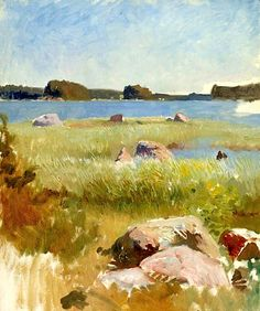 Edelfelt, Albert  Study, in the Archipelageo