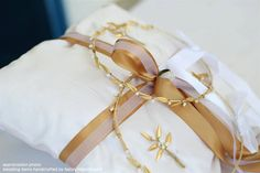 Items similar to Stefana Pillow and 2 Boutonnieres Gold Plated leafs with Freshwater pearls - Greek Orthodox Wedding SET Stefana with olive leaves on Etsy Greek Wedding Traditions, Orthodox Wedding, Wedding Pillows, Ring Pillows, Greece Wedding, Wedding Sets, Wedding Crowns, Fresh Water, Boutonnieres