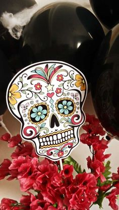Day of the Dead Halloween party favors! See more party planning ideas at CatchMyParty.com!