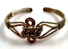 1970s Vintage TWISTED Metal Cuff Bracelet by thepopularjewelry