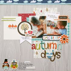 Autumn Days scrapbook layout
