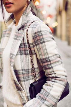 Checkered coat for winter.