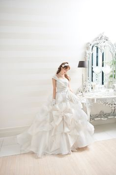 Yuri Ebihara in A Liliale Amazing White Wedding Dress