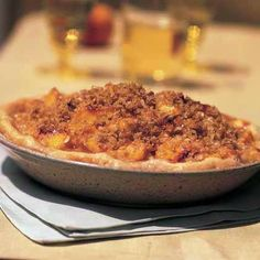 Brown Sugar-Peach Pie with Coconut Streusel by Cooking Light