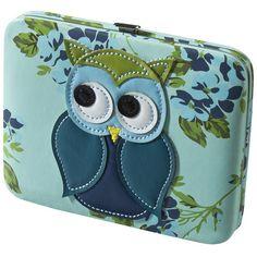 Xhilaration® Blue Owl Applique Hinge Wallet found on Polyvore