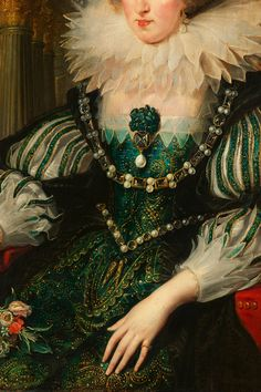 "cybertronian: "" INCREDIBLE DRESSES IN ART (21/∞) Anne of Austria from the workshop of Peter Paul Reubens, c. 1625 """