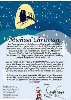 Christmas morning letter from santa with religious theme christmas letter from santa for a disbeliever spiritdancerdesigns Images