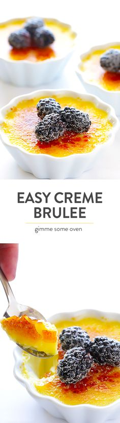 Learn how to make delicious classic Creme Brulee with this easy and foolproof recipe!  Step-by-step photos are included. | gimmesomeoven.com