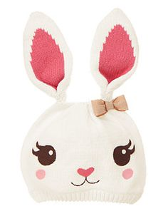 Bow Bunny Sweater Hat