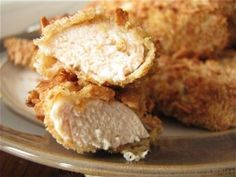 "HCG Diet - P2 - ""Fried"" Chicken Tenders, I think I am going to remake these with my wasa bread crumbs today and make zucchini fries to go along w/ em'"