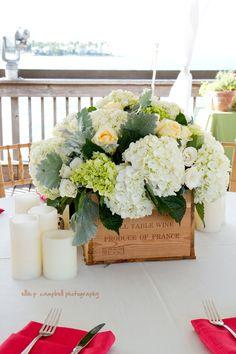 cajas con hortensias
