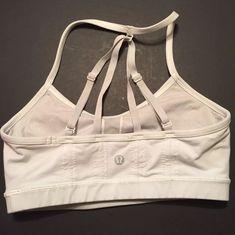 RARE Lululemon Breathe Easy Sports Bra 4 Black Light Gray Run Yoga Straps  | eBay