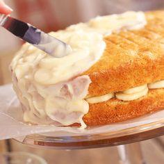 Banana Layer Cake with Lemon Cream Cheese Frosting...yum!