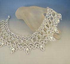 Cinderella needle tatting necklace pattern by Happyland87 on Etsy