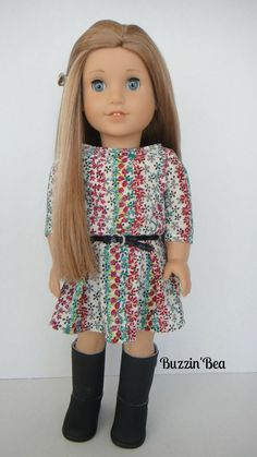 Belted Floral Dress - American Girl Doll Clothes on Etsy, $24.00