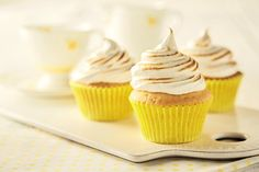Be number one mum on the pitch with these delicious lemon meringue cupcakes #Recipe #BackToSchool