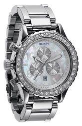 Nixon 'The 42-20 Chrono' Crystal Bezel Watch