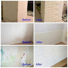 Made of soft PE foam, Anti Children's Collision, take care of your family. Waterproof, moist-proof and sound insulated. Easy clean and maintenance with wet cloth, economic wall covering material. Self adhesive peel and stick wallpaper, Easy paste And removement .Easy To cut DIY the shape according to your room area, very FUNNY. Self Adhesive Wall Tiles, Self Adhesive Wallpaper, Peel And Stick Wallpaper, Adhesive Vinyl, 3d Brick Wall Panels, White Wall Paneling, 3d Wandplatten, White Brick Wallpaper, Brick Design
