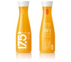 """Logo and packaging design for """"17.5°"""", a new series of Orange and Apple juice products intended for the China market, produced by """"Nongfu Spring"""", the leader in food and beverages of China. Designed in collaboration with the leader of packaging design Mou…"""