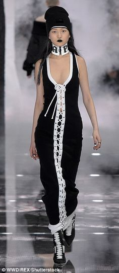 Monochrome magic: The black-and-white color scheme showcased the intricate design details ...