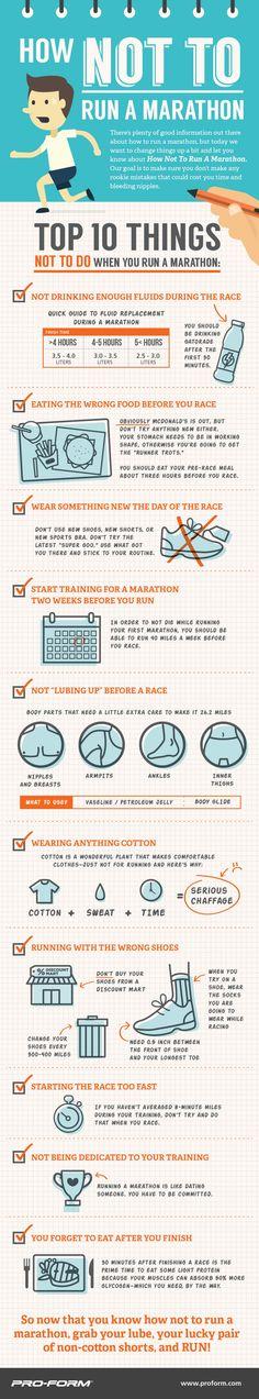 How Not To Run A Marathon