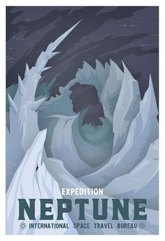 Etsy の Neptune Travel Poster  WPA style  13x19 by Opafaf