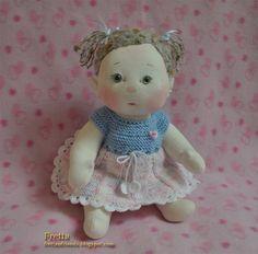 """OOAK suave de Fretta esculpir bebé. 14"""" las mejillas de la muñeca de BeBe. Articulado 35,5 cm/14 """"escultura blanda muñeca. Niño amable de muñeca."""