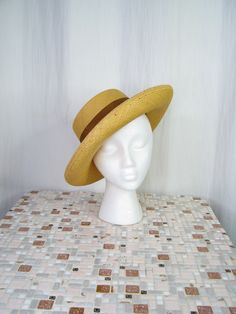SUMMER HAT SET 4 Vintage 1950/'s 50s Hats  Pillbox Floral Straw Veil
