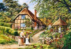 ¿Con ganas de vacaciones?  Esta casa con flores hace soñar... Tiene 3000 piezas y es de la marca Castorland
