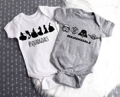Excited to share the latest addition to my shop: Twins Onesies / Twin Baby Gifts / Boy Girl Twin Onesie / Boy Girl Twin Outfit / Boys Clothing / Girls Clothing / Disney Tshirts / Squadgoals Boy Girl Twin Outfits, Twin Baby Clothes, Twin Baby Gifts, Disney Baby Clothes, Boy Girl Twins, Trendy Baby Clothes, Kids Outfits, Disney Onesies, Boy Disney Shirts
