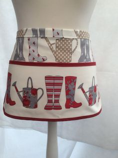 Clothespin Apron, Utility Apron, Crafter's Apron, Peg bag Apron,Wellie Boot, Wellington Boots, Gardeners Apron by MoorStitches on Etsy