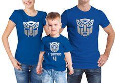 Transformadores familiar inspirado juego azul camisetas de