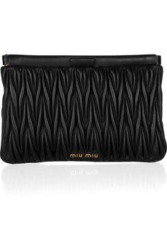 e486a41b5056 Miu Miu - Matelassé leather clutch