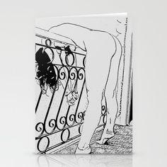 Erotic Home Decor - BDSM, bondage fantasy Stationery Cards