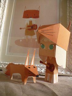 PAPER TOY & ILLUSTRATION Muki Shungila The fox by RozennBothuon, $30,00