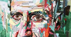 "British artist Patrick Bremer creates these extraordinary collage work using layers of paper strips from magazines and books.     ""Some pie..."