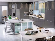 Ikea abstrakt grey kitchen
