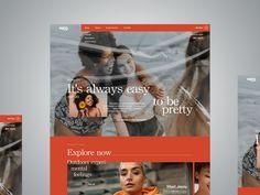 #women #dribbble #webdesign #design #concept Presentation, Web Design, Concept, Baseball Cards, Explore, Feelings, Outdoor, Women, Outdoors