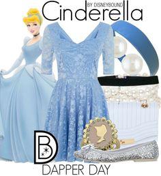 Disney Bound: Cinderella from Disney's Cinderella (Dapper Day Outfit) Cinderella Story, Cinderella Outfit, Cinderella Disney, Disney Couture, Cute Disney Outfits, Cute Outfits, Disney Clothes, Disney Shirts, Disney Mode