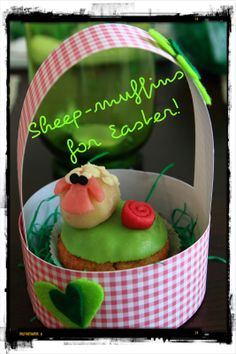 this year I tried some carrot muffins with marzipan decoration - and I love sheeps, so have a look: And then, why don't you try you. Carrot Muffins, Marzipan, Easter, Diy Crafts, Baking, Cake, Creative, Desserts, Blog