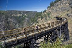 BC: Hike or Mountain Bike Kettle Valley Rail Trail, BC, Canada - Bucket List Dream from TripBucket Bike Trails, Hiking Trails, Vancouver City, Canada, British Columbia, Columbia Travel, Plein Air, Outdoor Camping, Adventure Travel