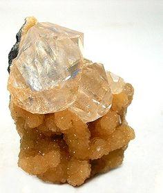 Calcite on Stellerite - Kazakhstan